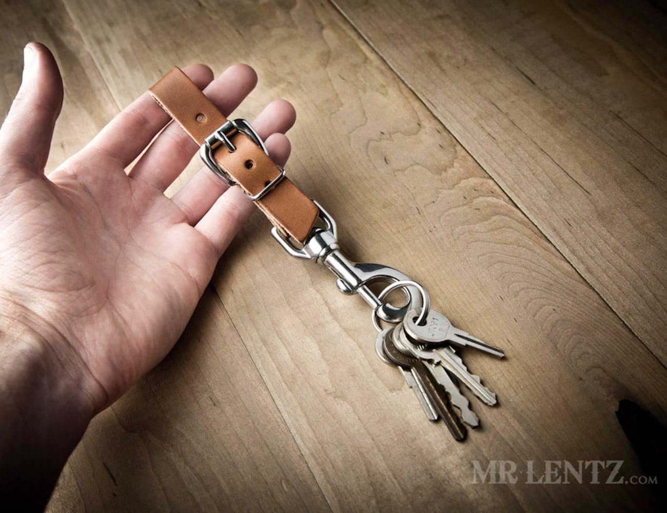 Mr. Lentz Adjustable Leather Keychain