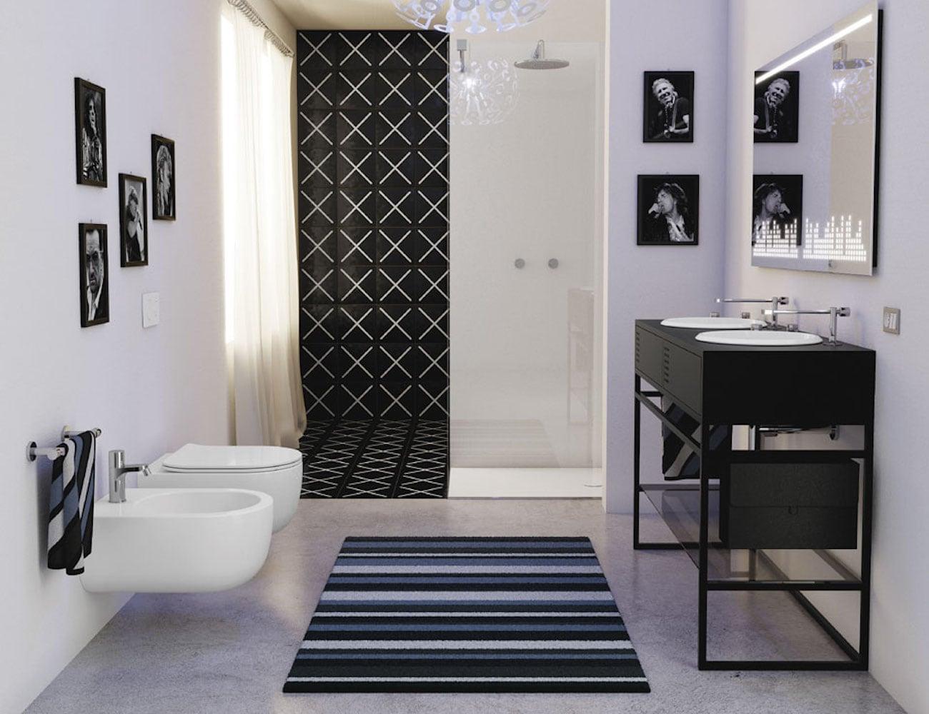 Olympia Ceramic Vinyl Bathroom Collection
