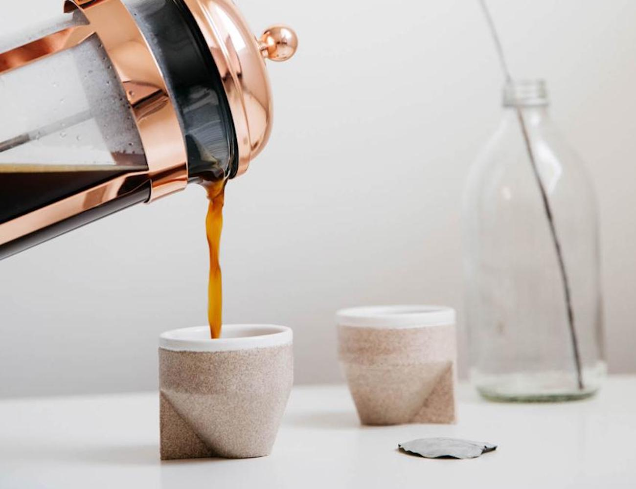 The Foundry RAMEL C01 Ceramic and Sand Infused Cups
