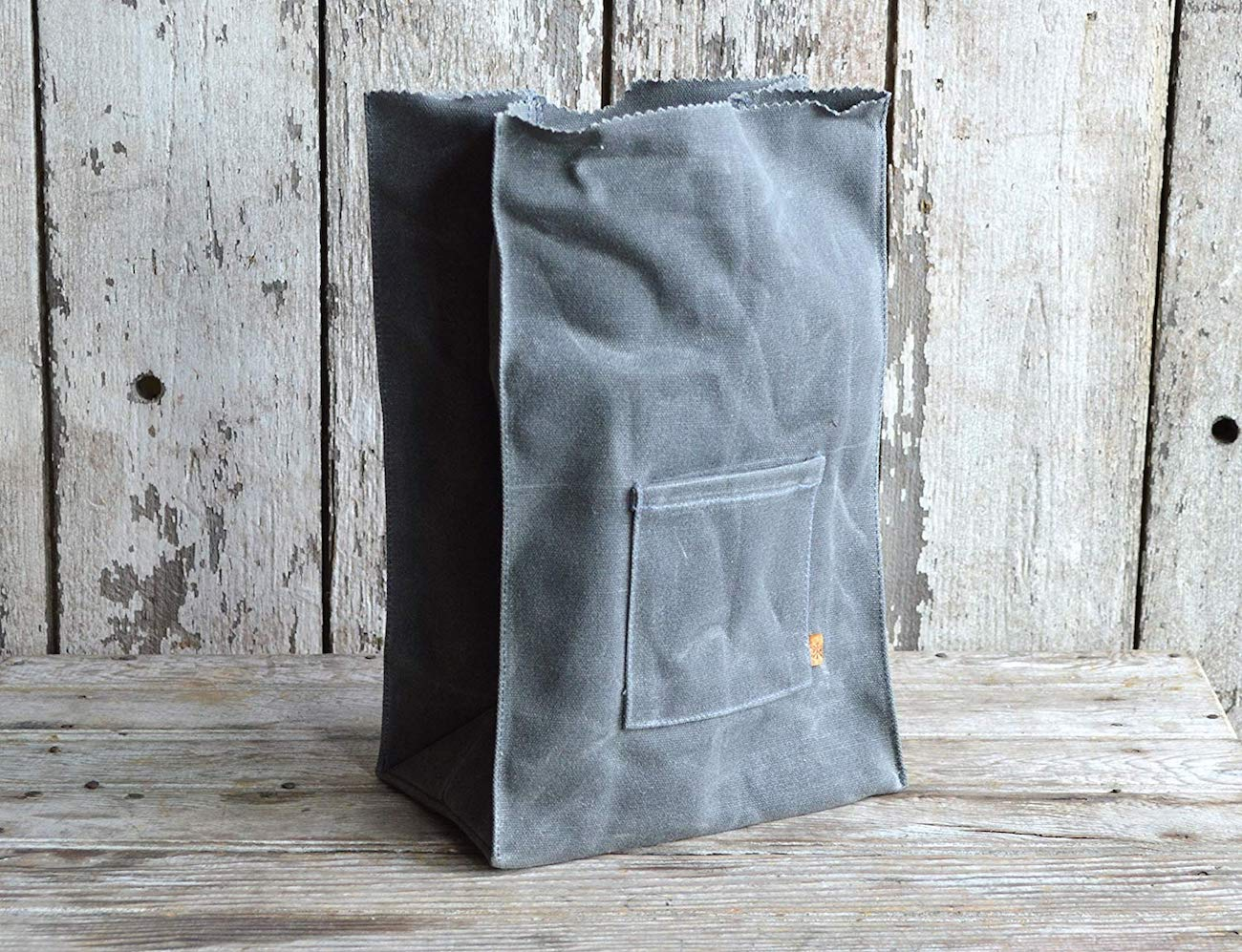 The Marlowe Waxed Canvas Lunch Bag