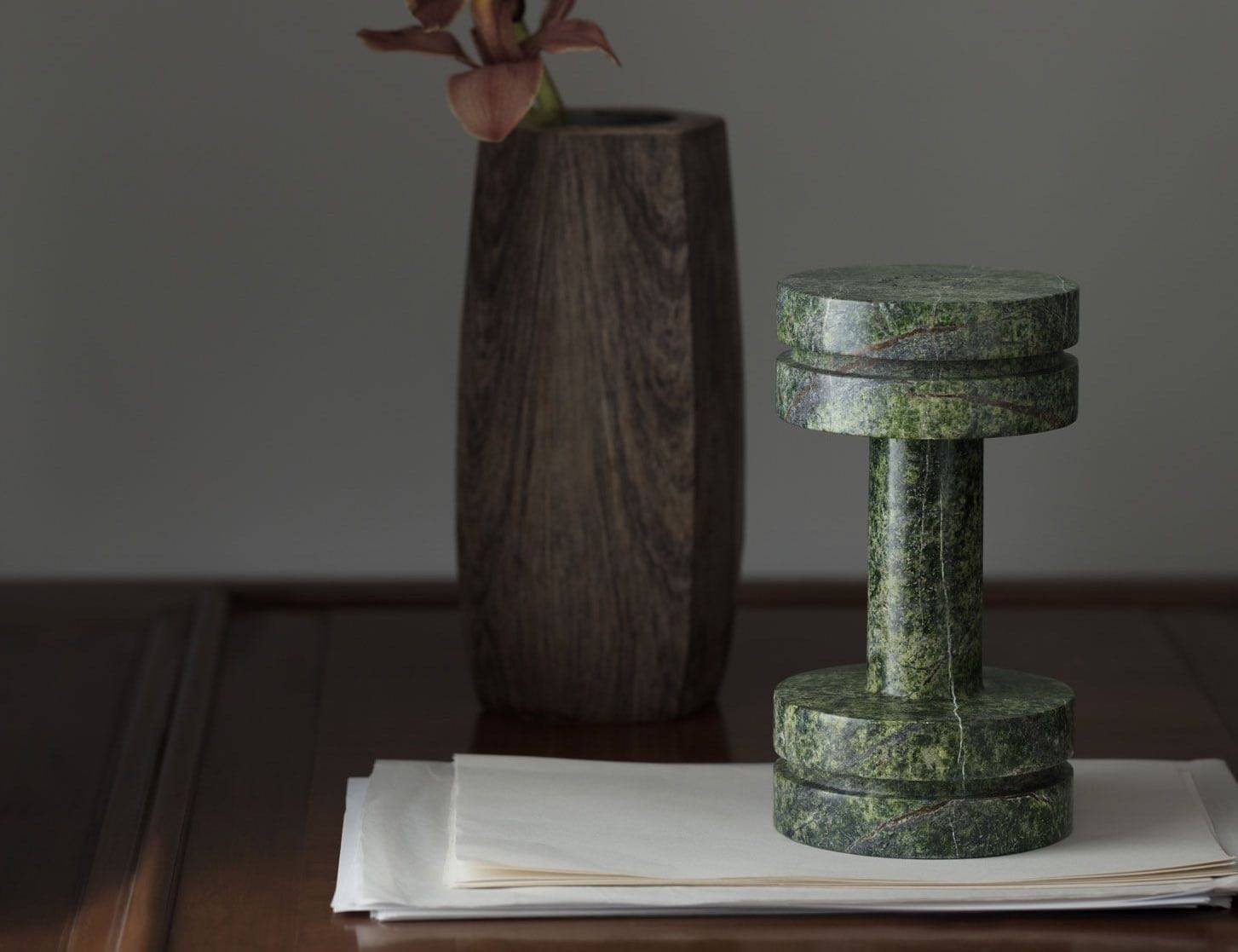 Tom Dixon Rock Weight Marble Dumbbell