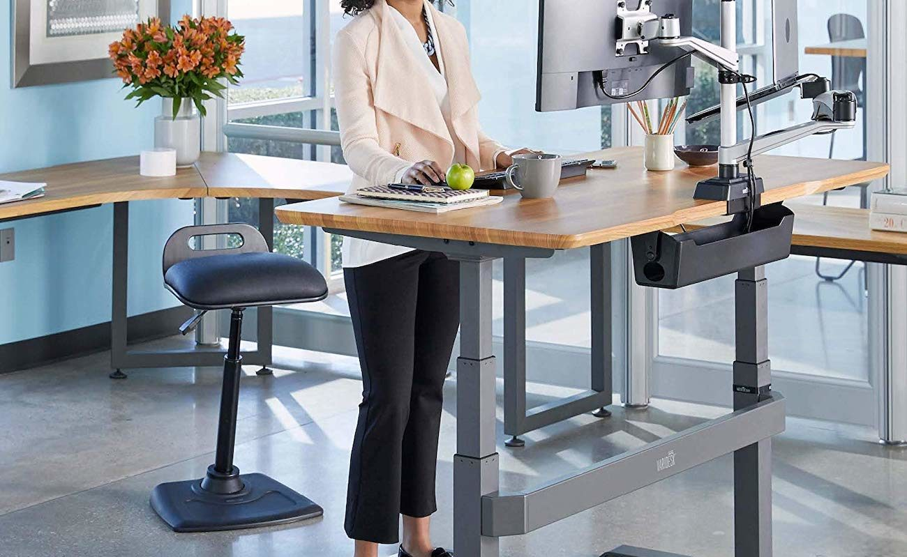 VARIChair Pro Standing Desk Chair helps you stay active while working all day