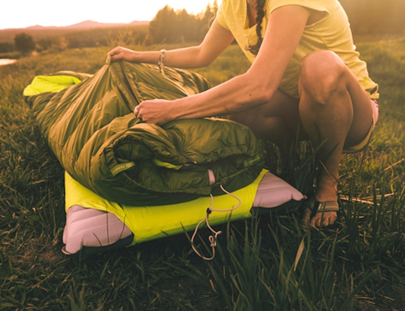 Zenbivy Bed Backcountry Sleeping Bag lets you sleep in any position