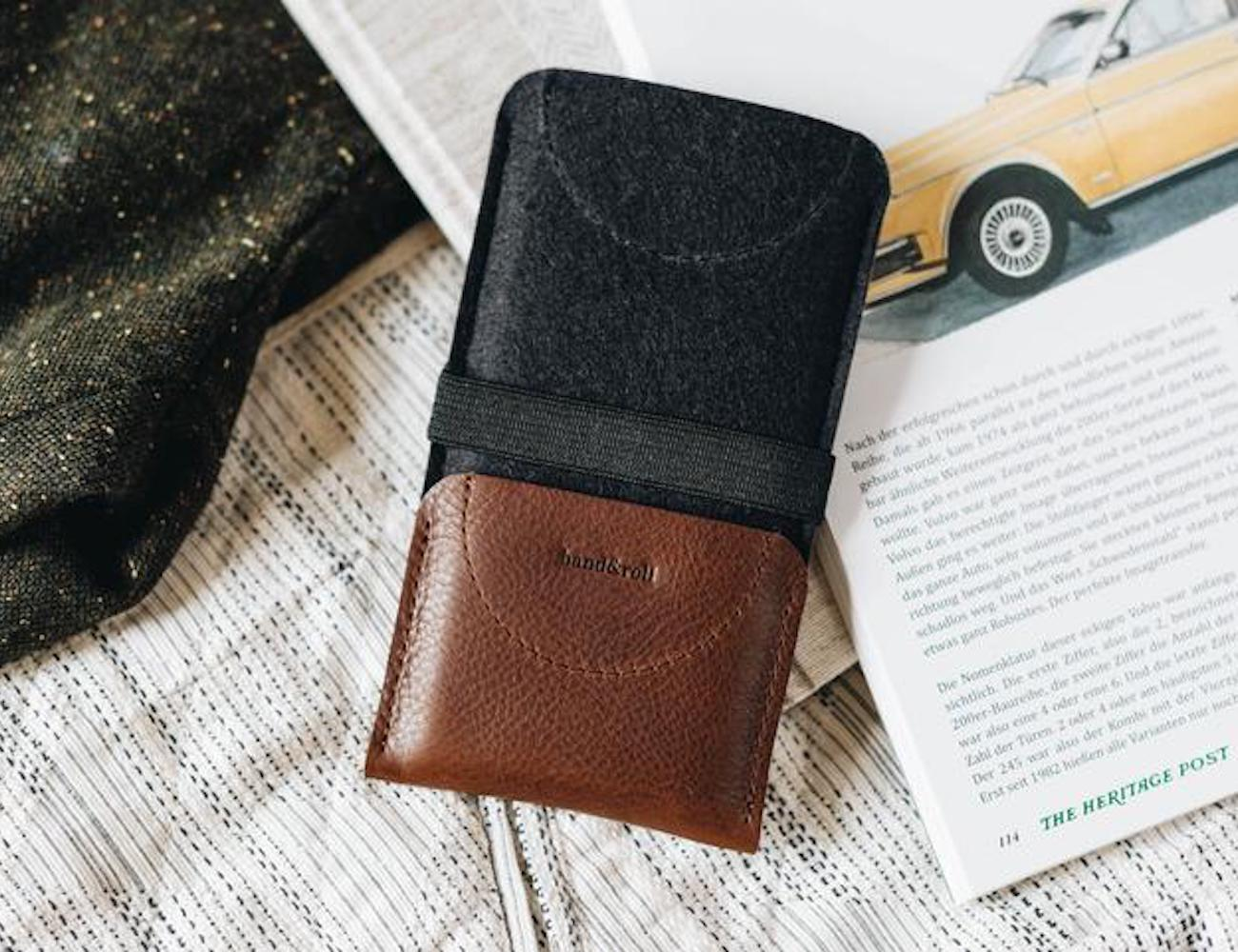 detailed look ec867 f9964 band&roll Kangaroo Leather Smartphone Wallet Case doesn't sacrifice style  for protection