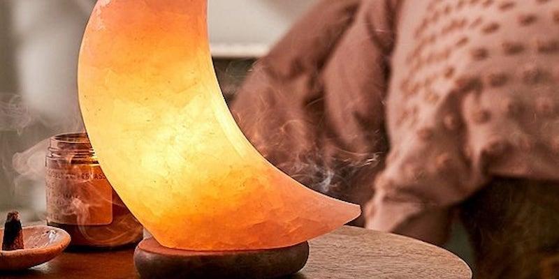Urban Outfitters Moon Himalayan Salt Lamp