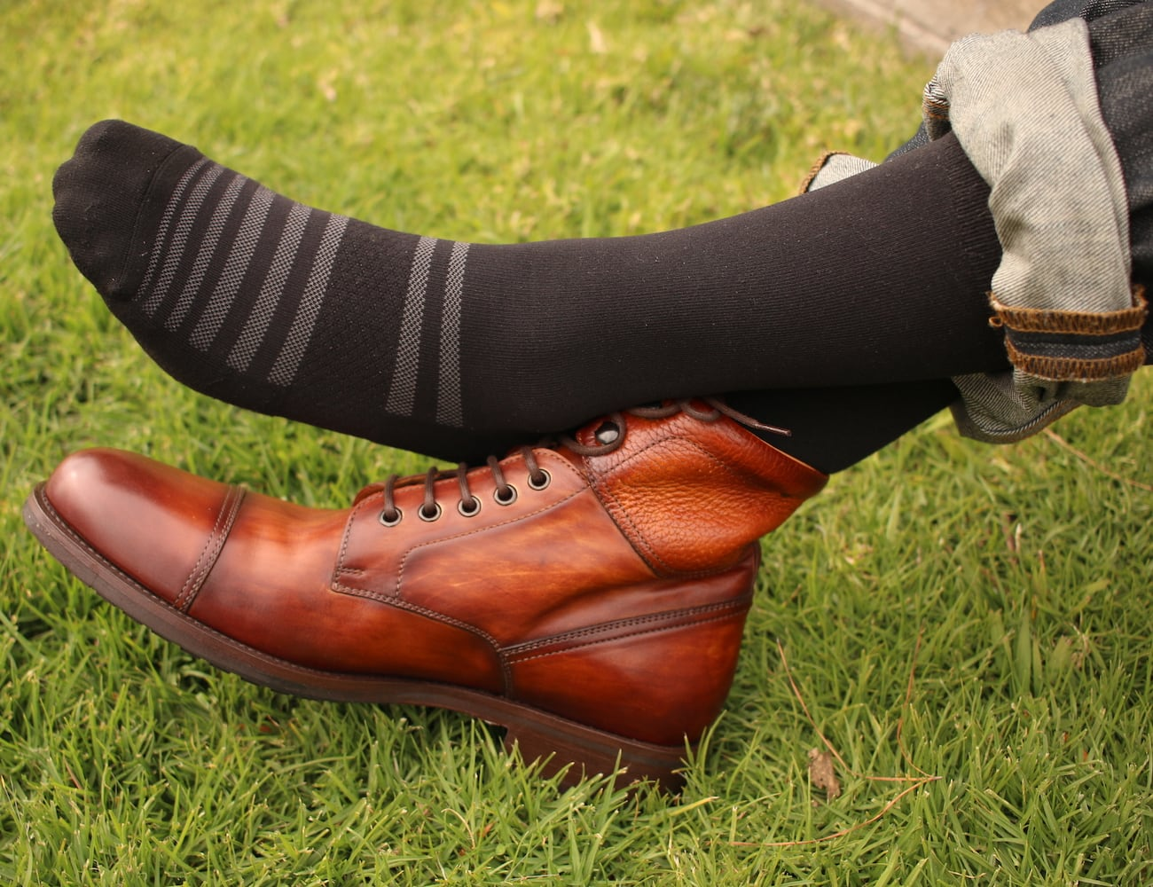 ALMI Pro-Formance Premium Dress Sock works for the office or the gym