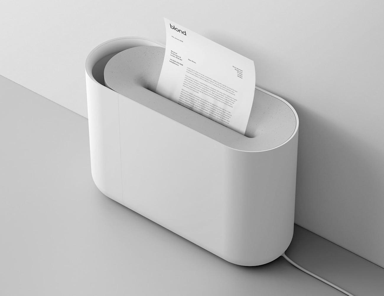 Aperture Minimal Paper Shredder looks good in any office