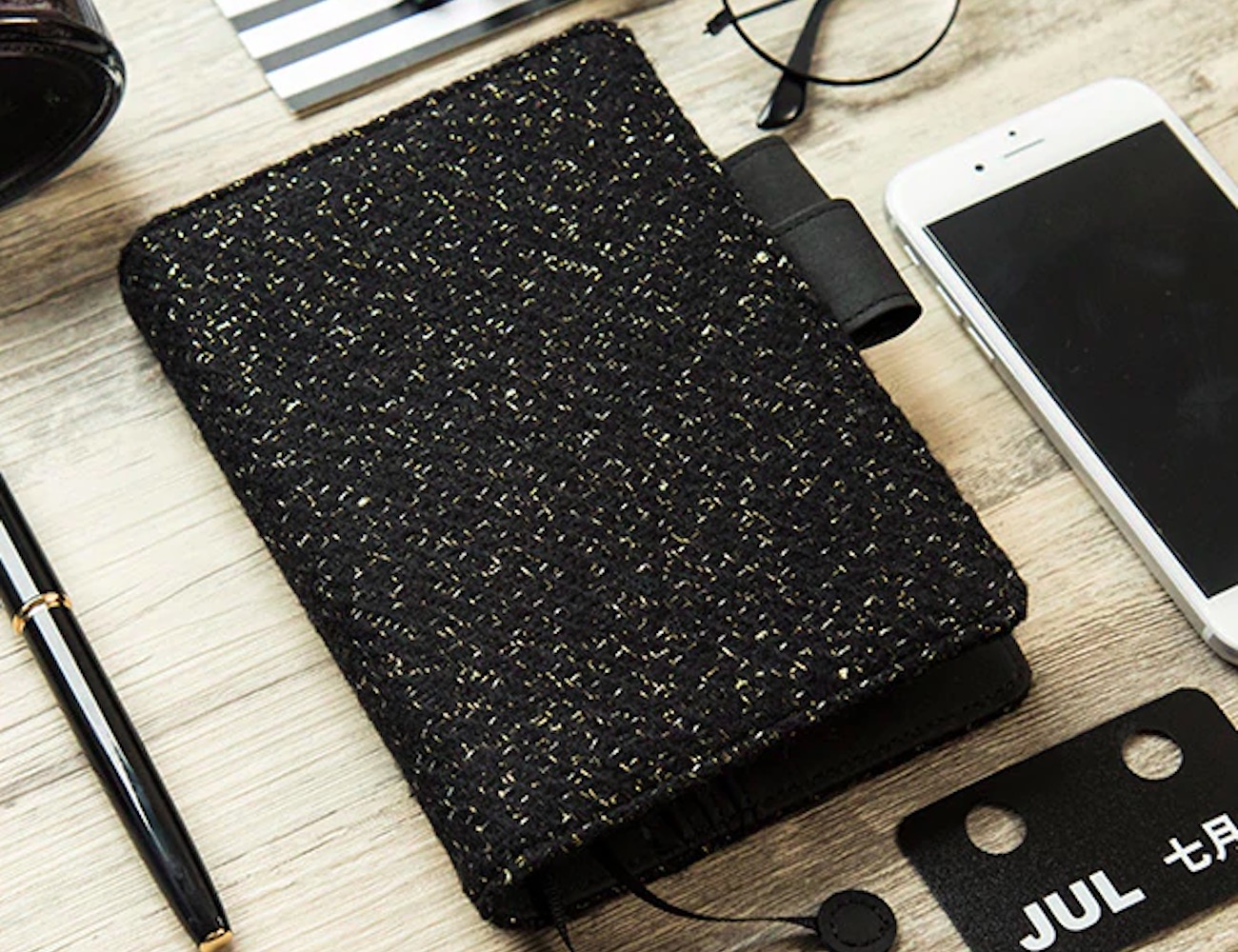Black Wool Hardcover Notebook Cover offers a fresh look for your ideas