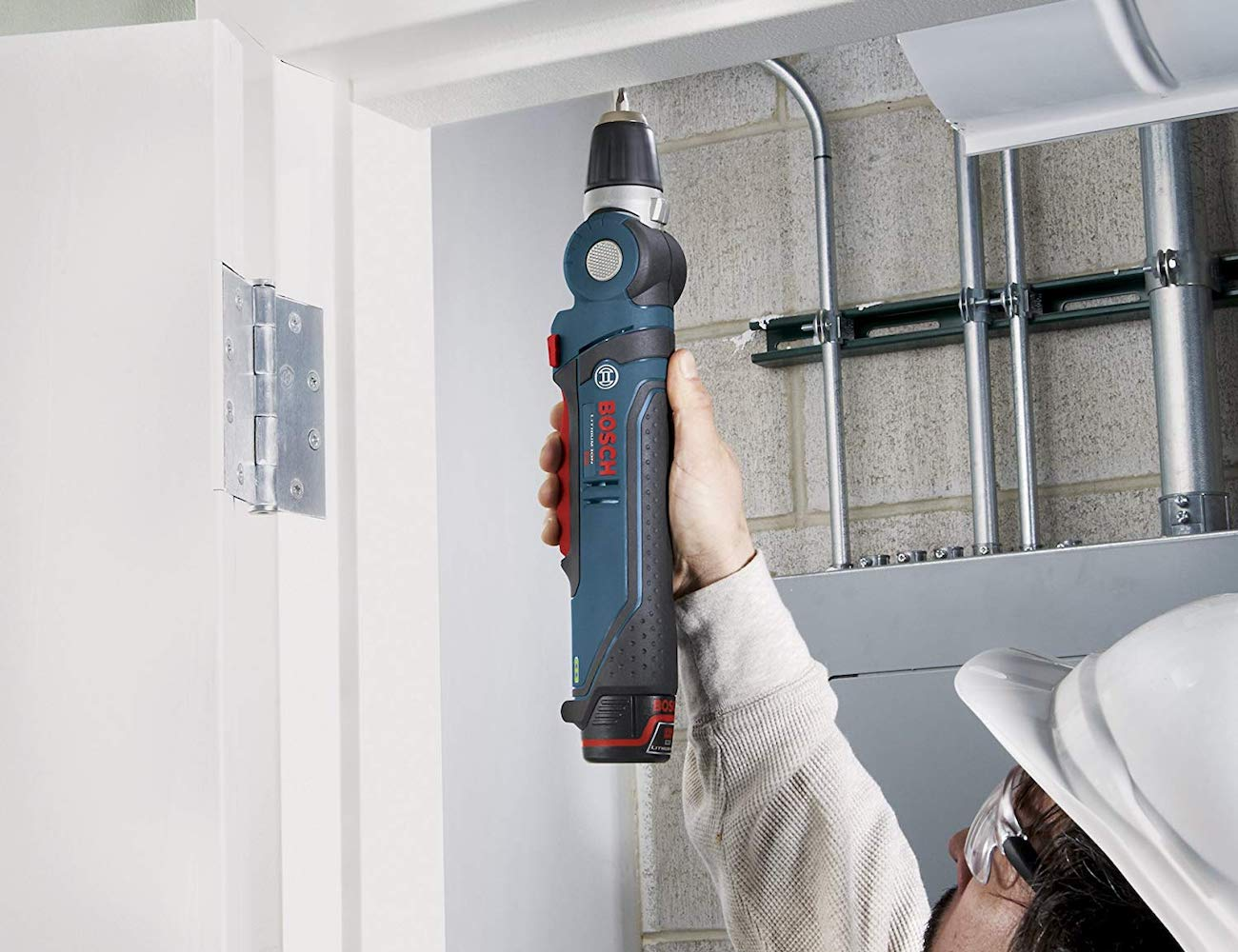 Bosch PS11 Angle Drill Driver articulates up to 180 degrees