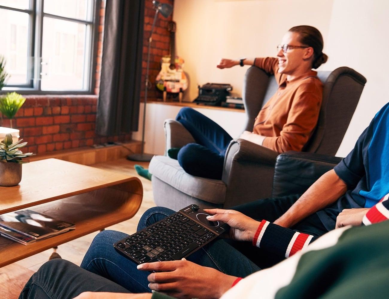 CORSAIR K83 Wireless Entertainment Keyboard controls your home media