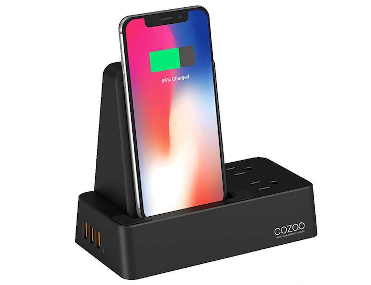 CoZoo Qi Wireless Charger Stand charges three devices at the same time