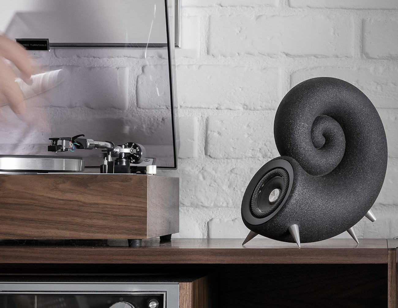 DEEPTIME Spirula 3D Printed Sand Speakers are made from silica sand