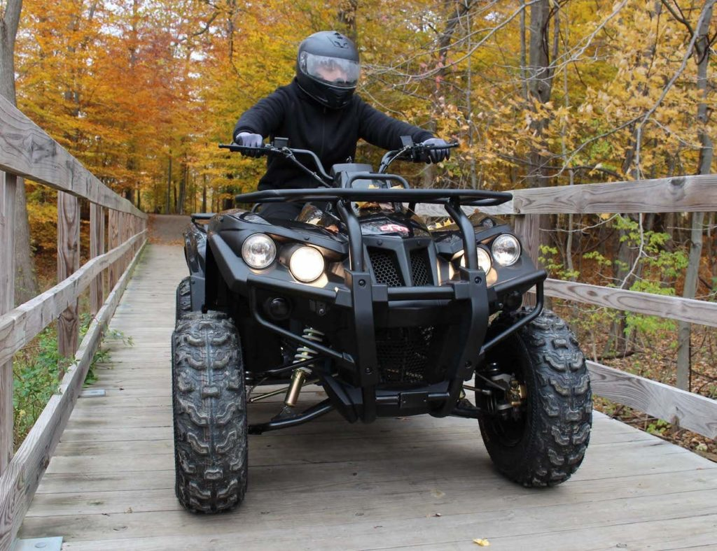DRR+Stealth+Silent+Electric+ATV+offers+a+comfortable+and+quiet+ride