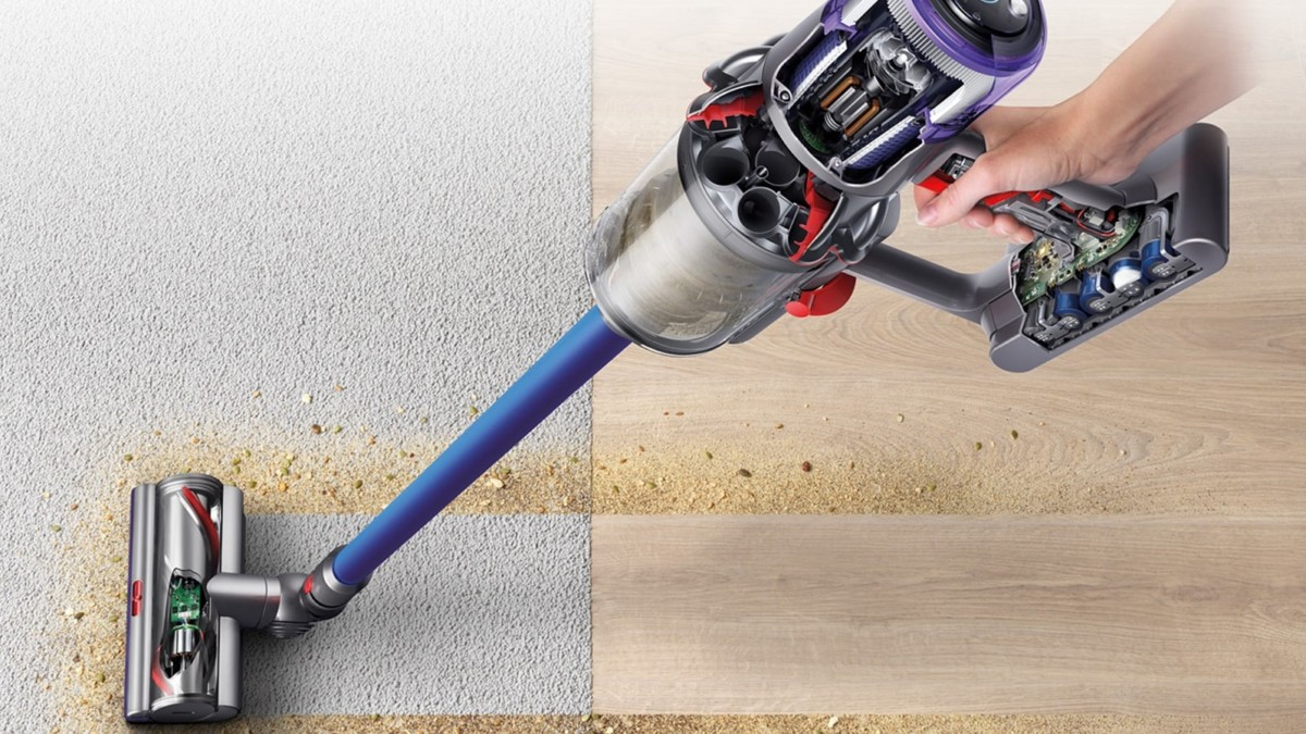 Dyson V11 Handheld Cord-Free Vacuum Series clean carpet, hard floors, and more