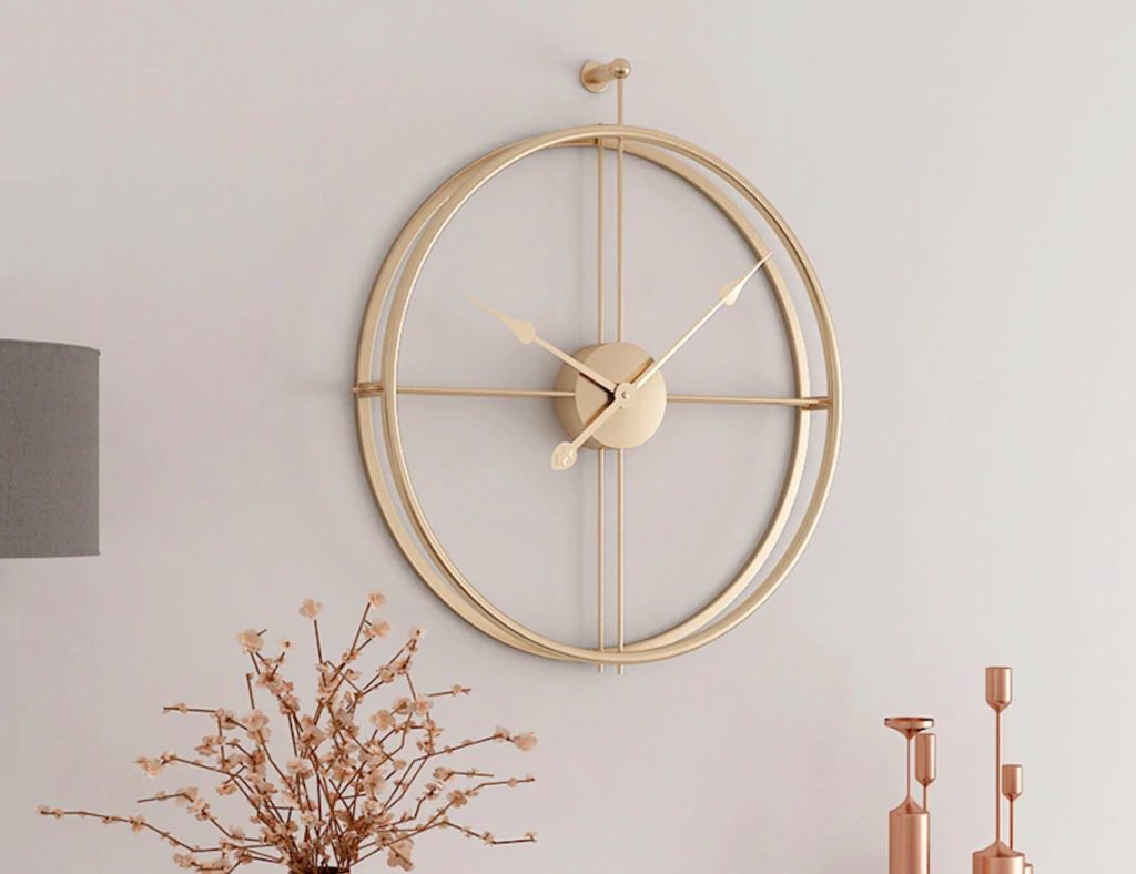 Elegant+Geometric+Circle+Wall+Clock+adds+simplicity+to+your+space