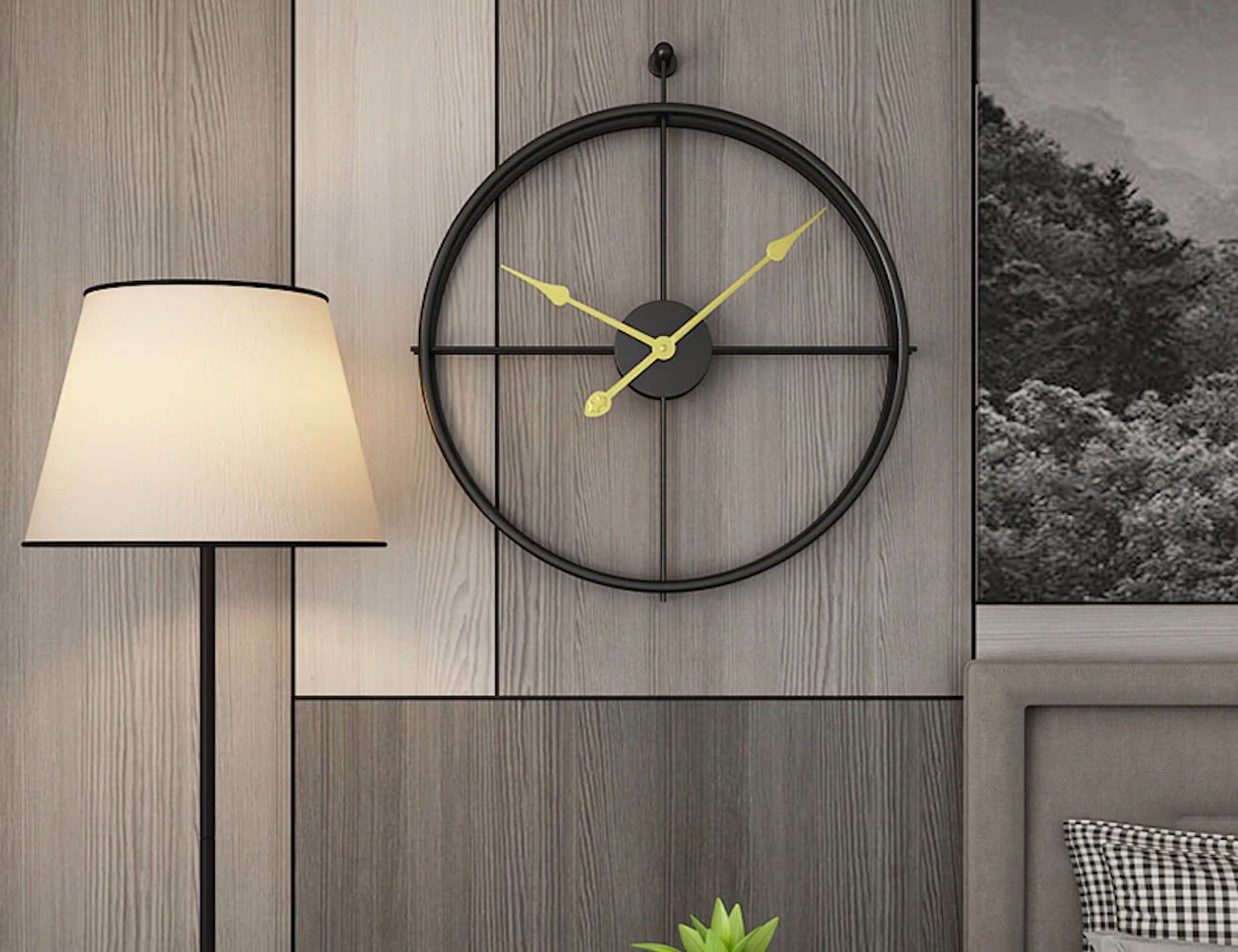 Elegant Geometric Circle Wall Clock adds simplicity to your space