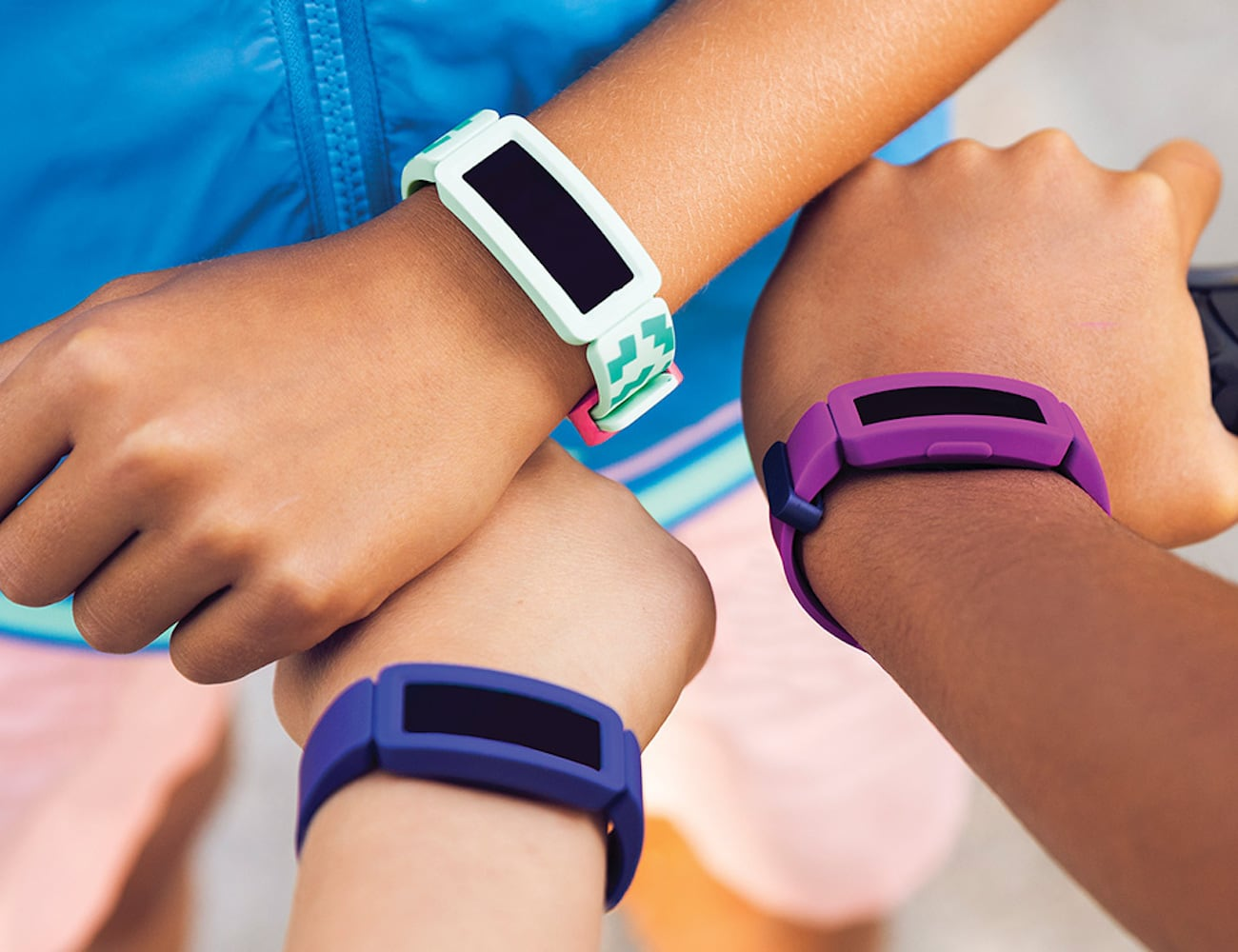 Fitbit Ace 2 Kids Swimproof Activity Tracker connects family members