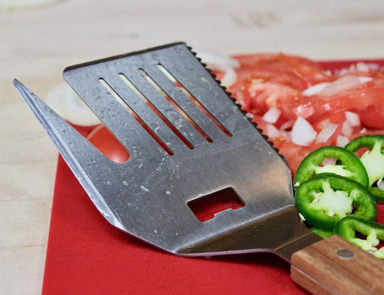 FlipFork Boss Versatile Grilling Tool combines five tools in one