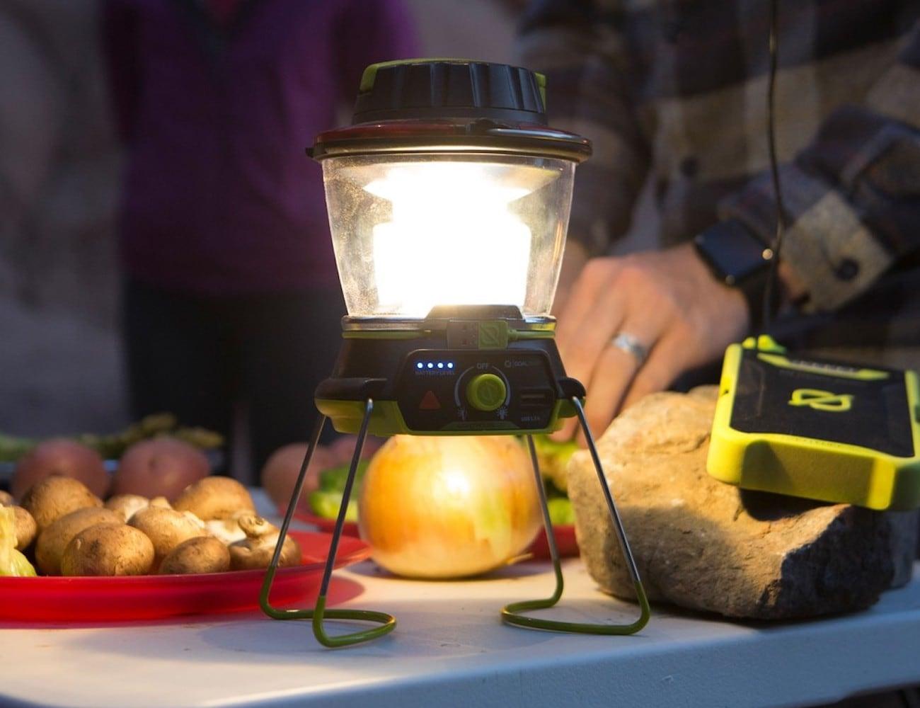 Goal Zero Lighthouse 400 USB Power Hub Lantern provides light and power
