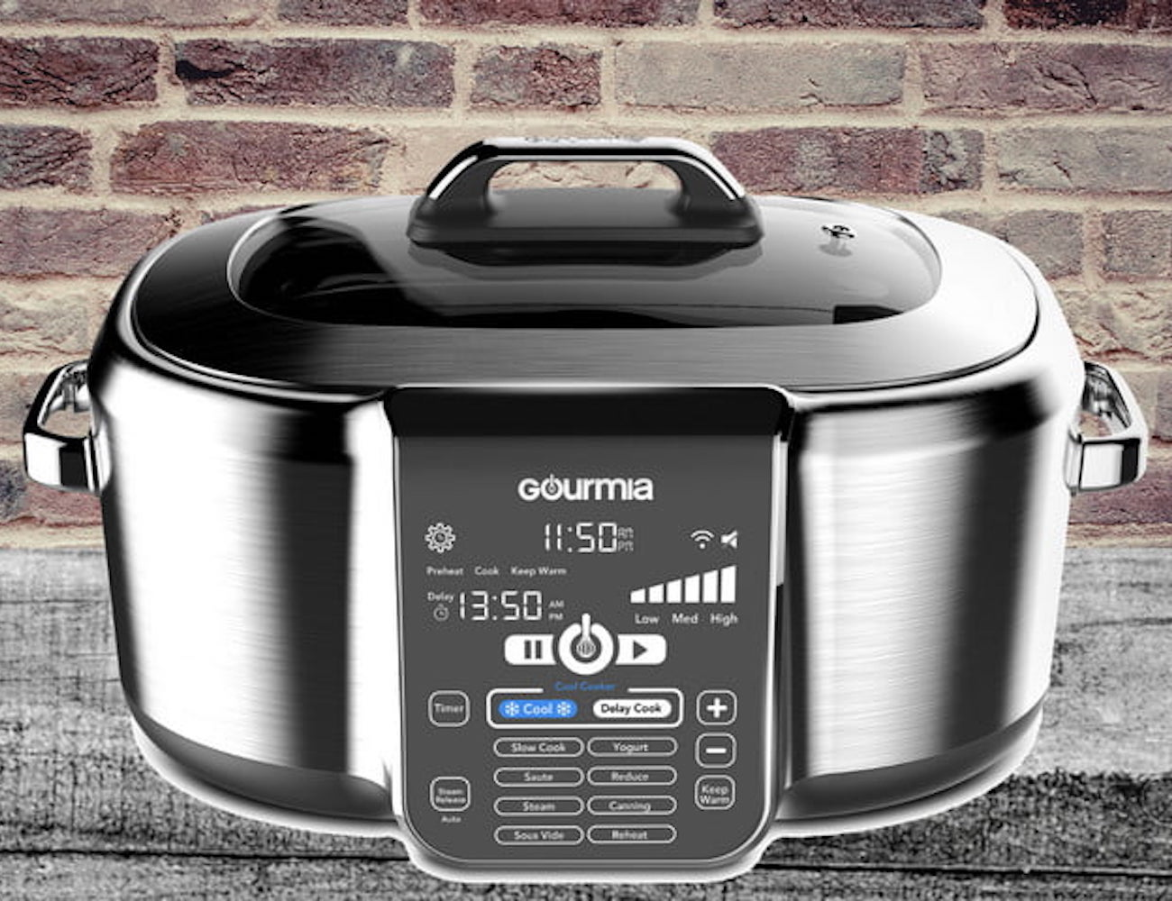 Gourmia Cool-Cooker Countertop Cooking Devices make preparation easier