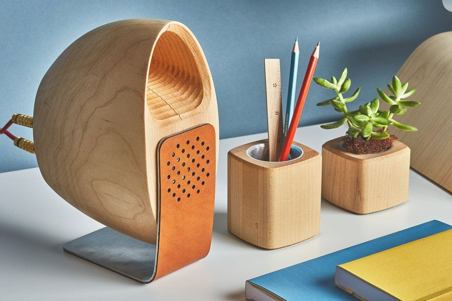Grovemade Wooden Speaker System makes music sound better