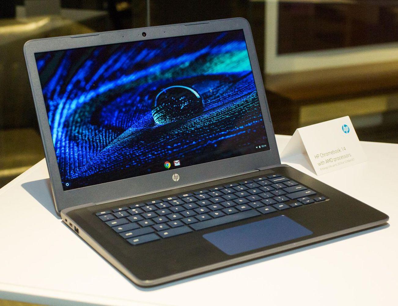 HP Chromebook 14 AMD Laptop offers super fast speeds