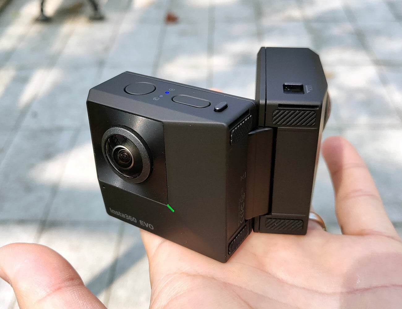 Insta360 EVO Foldable 3D Camera folds up to travel with you anywhere