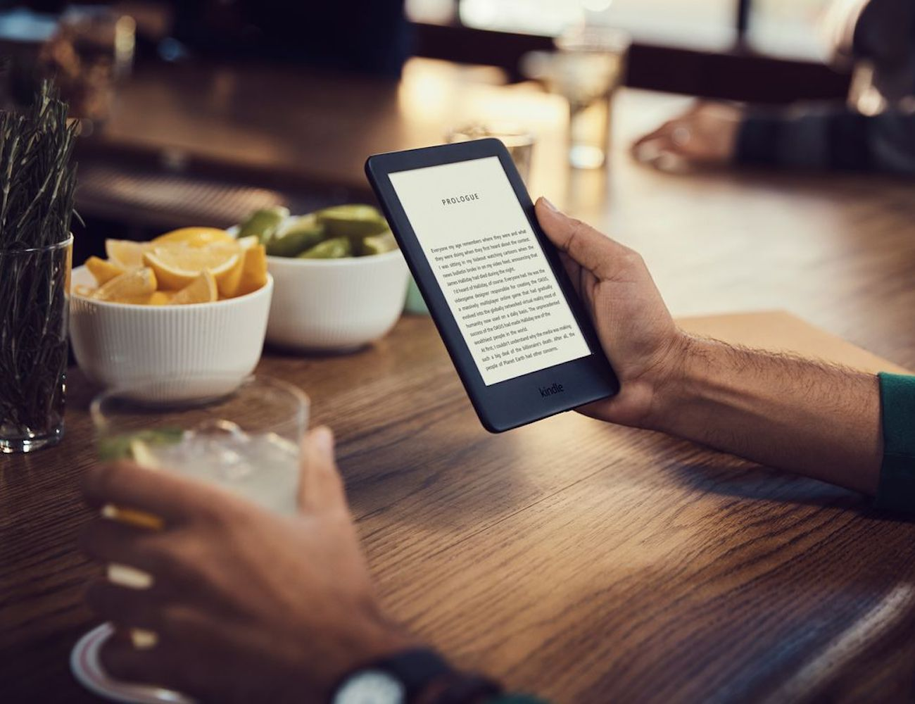 Kindle Built-In Front Light E-Reader lets you read indoors and outdoors