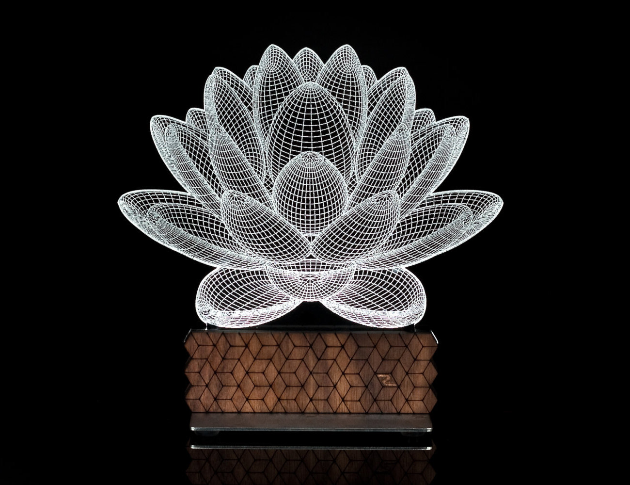 Lotus 3D Illusion Table Lamp looks like an illusion