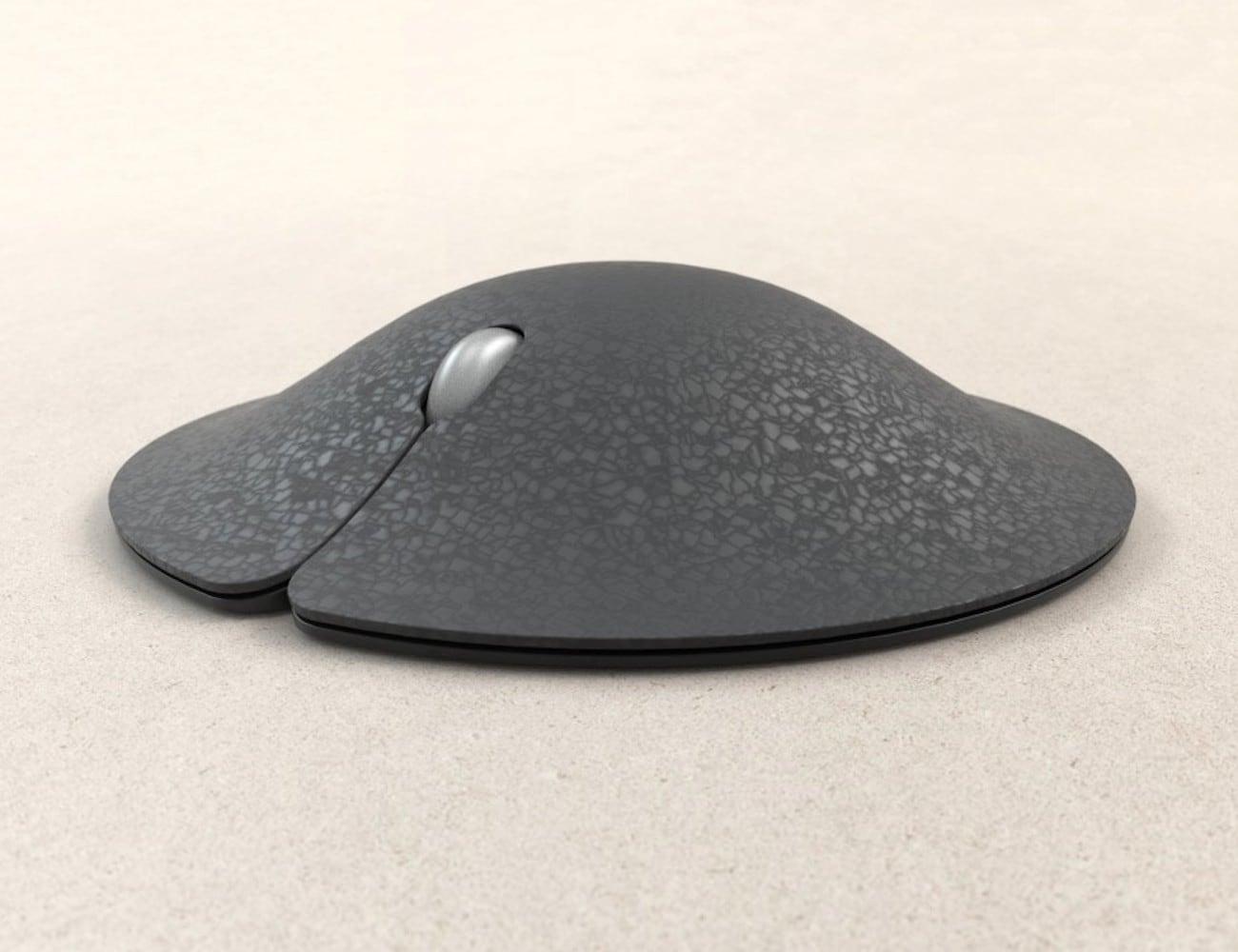 Manta Mouse Conceptual Ergonomic Mouse has an integrated mousepad