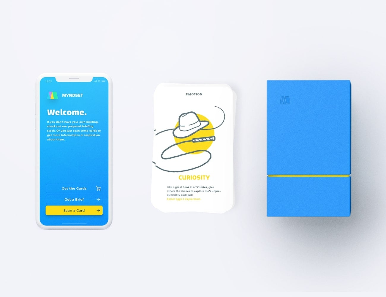 Myndset Design Thinking Card Game stimulates your creativity