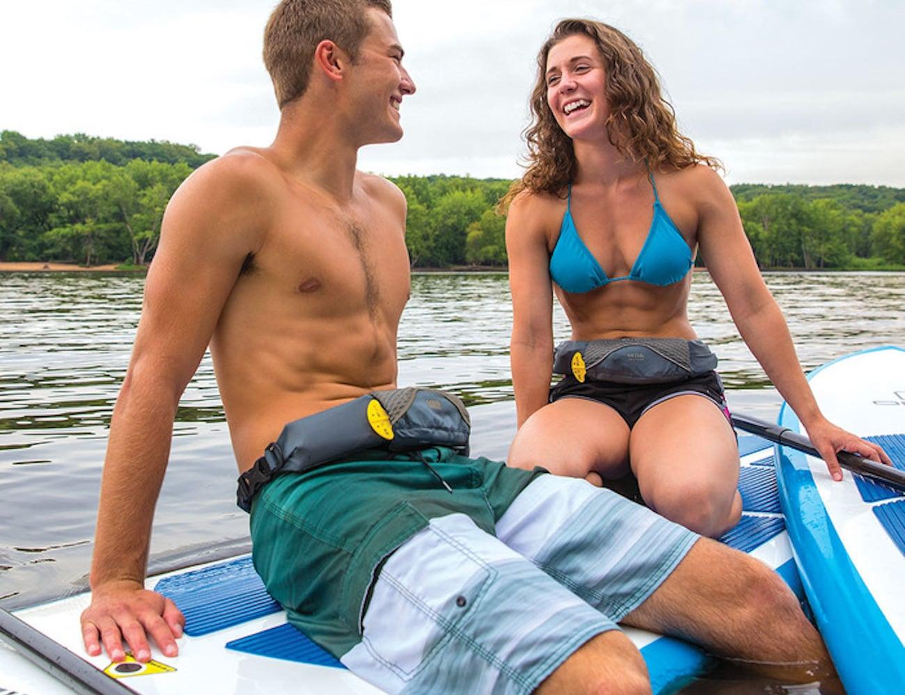 Onyx M-16 Belt Pack Inflatable Life Jacket keeps you afloat