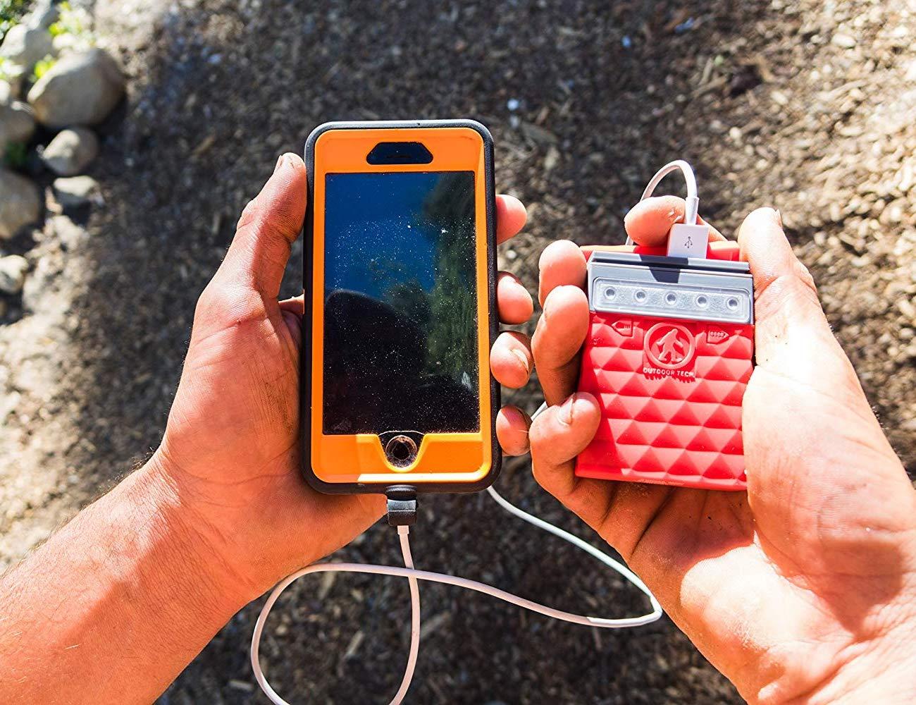 Outdoor Tech Kodiak Mini 2.0 Waterproof Power Bank provides power on the go