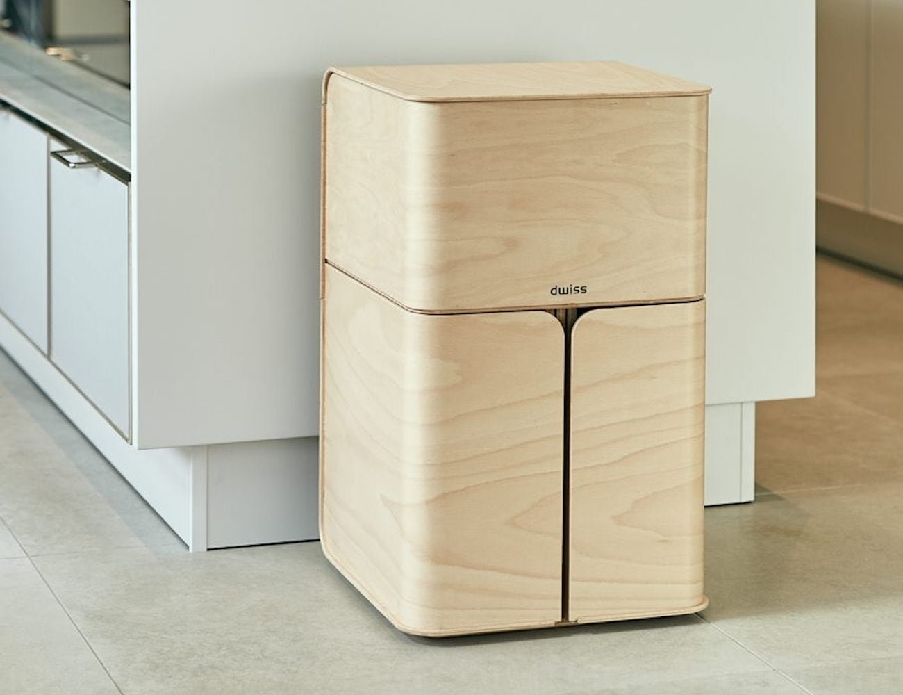 Paul Timmer Dwiss Elegant Recycling System organizes your trash in style
