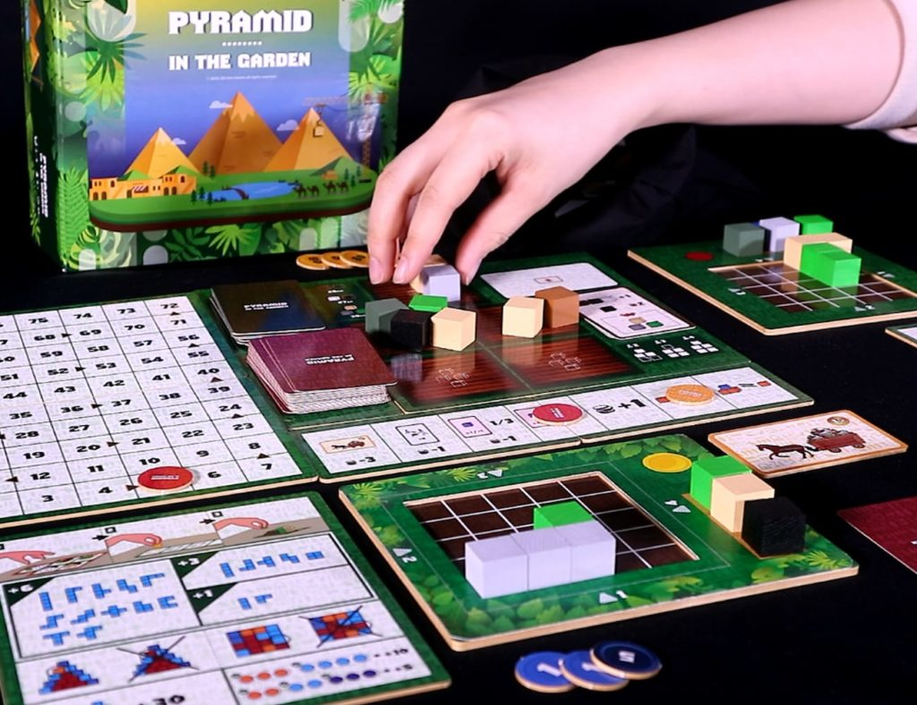 Pyramid+in+the+Garden+Pyramid+Building+Board+Game+is+simple+yet+challenging