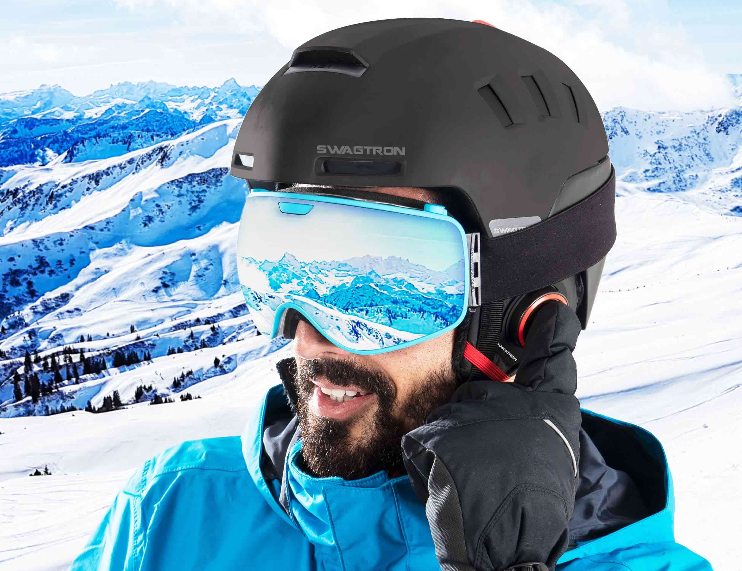 SWAGTRON Snowtide Smart Ski and Snowboard Helmet