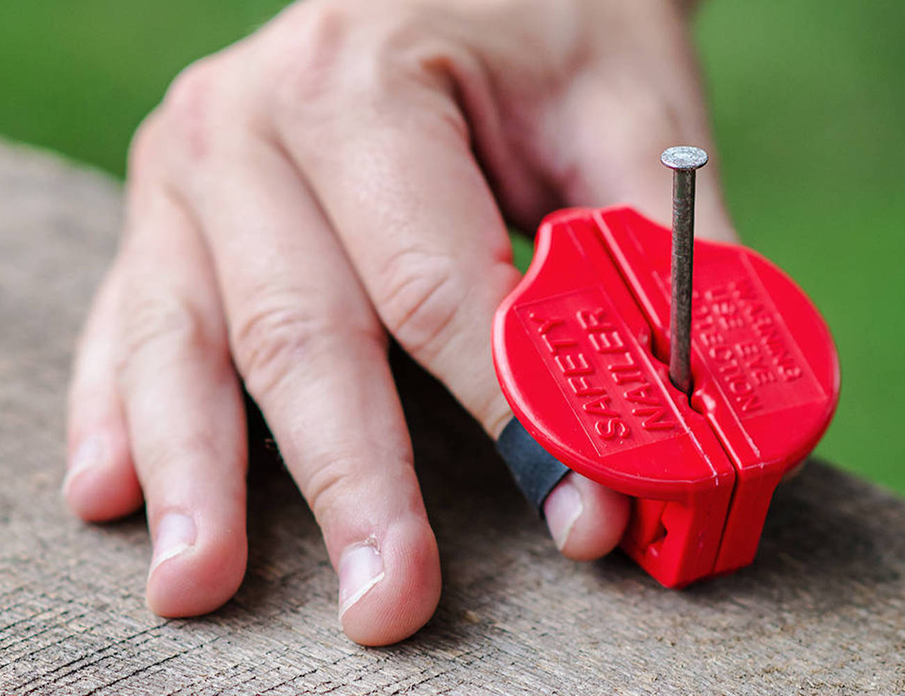 Safety Nailer Magnetic Nail Holder keeps your nails and screws in place
