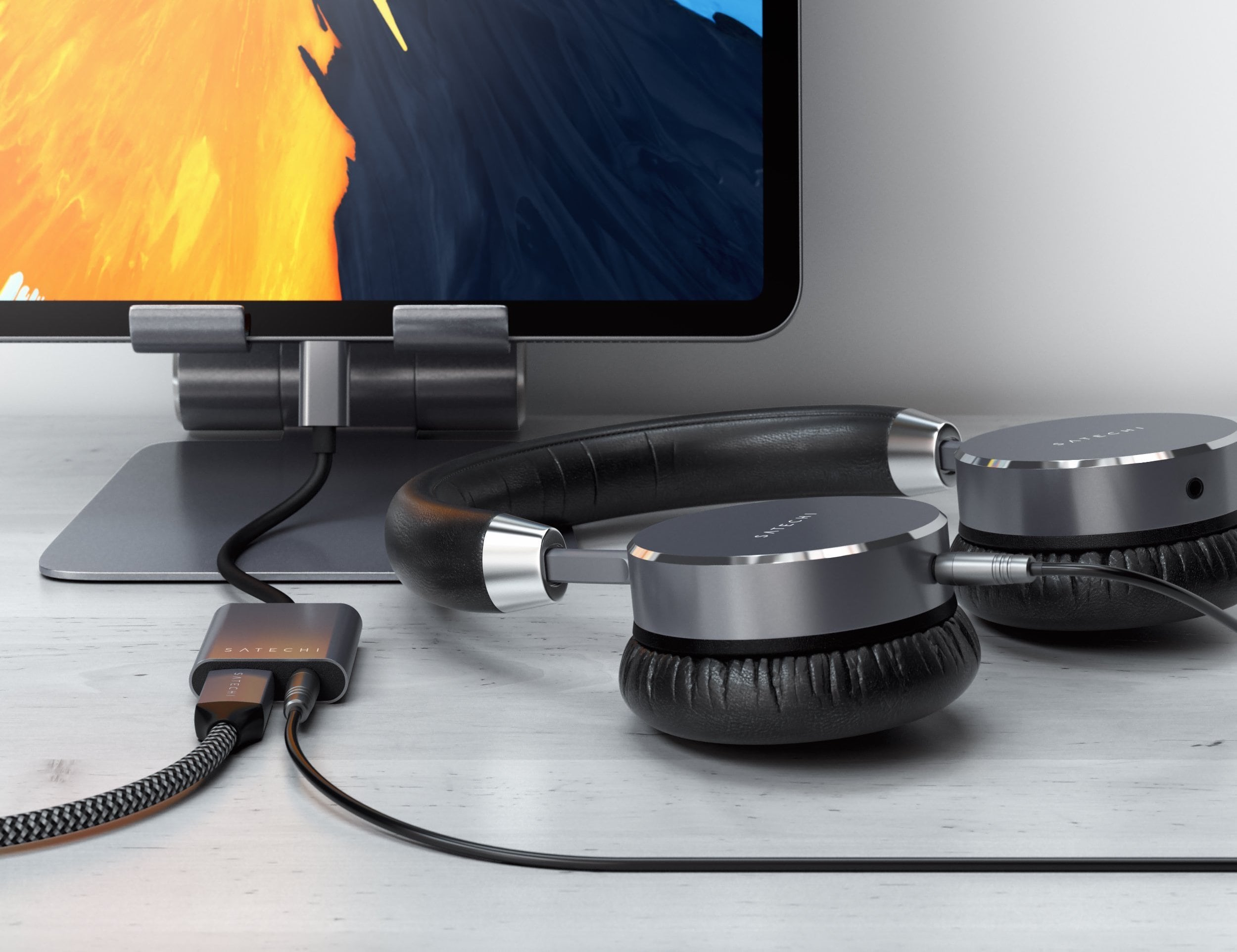 Satechi Type-C Headphone Jack Aluminum Adapter lets you charge and listen