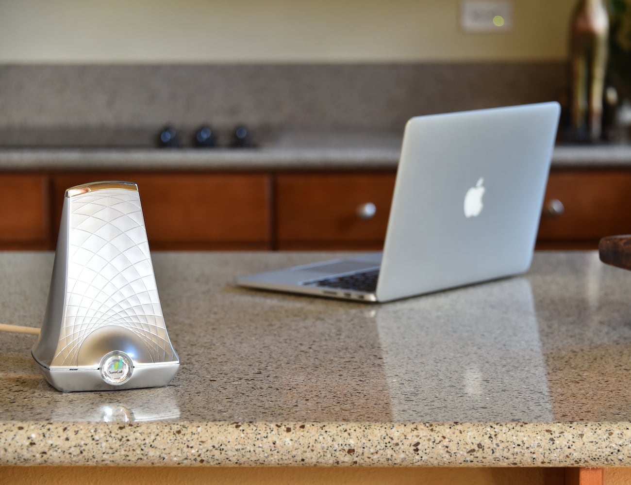 SureCall Flare Cell Phone Signal Booster improves cell signal in your space