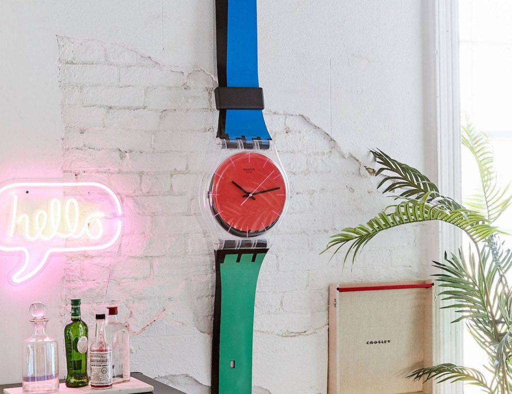 Swatch+Maxi+Wall+Clocks+are+taller+than+most+people