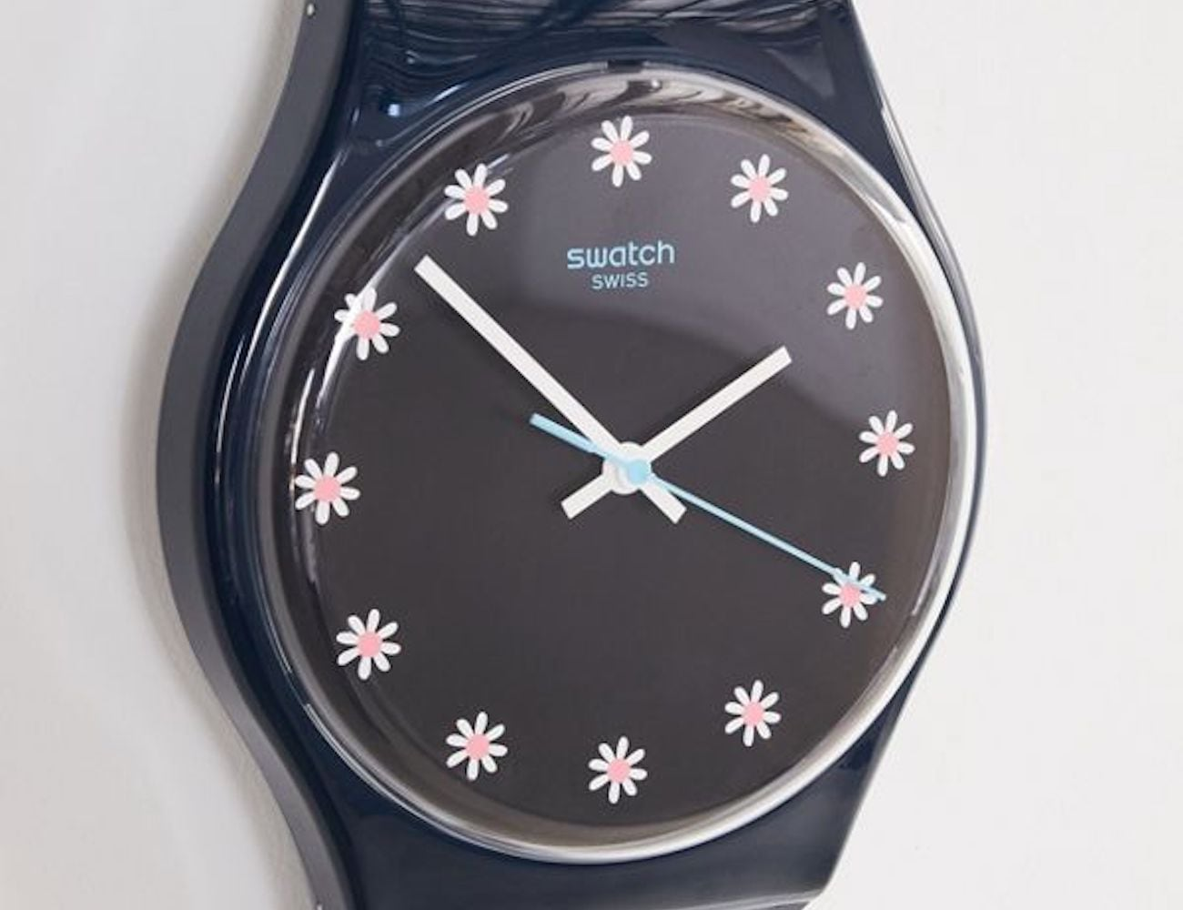 Swatch Maxi Wall Clocks are taller than most people