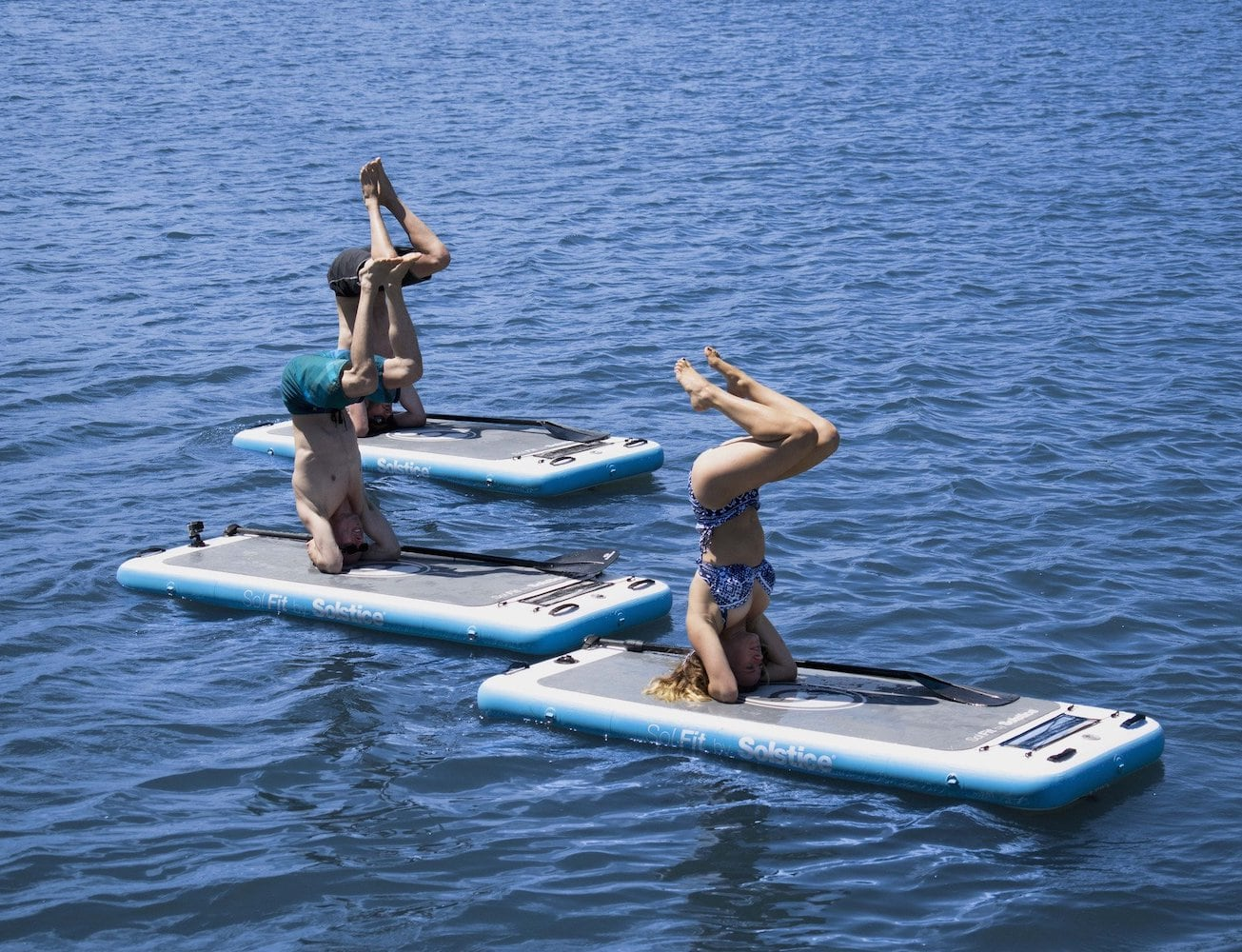 Swimline SolFit Aquatic Fitness Mat lets you workout on water