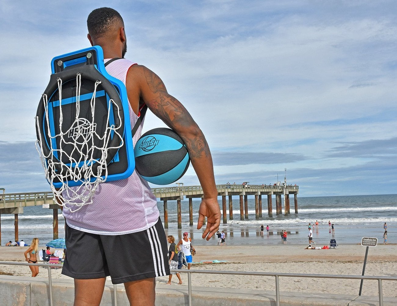 Swish Portable Basketball Hoop lets you play wherever, whenever