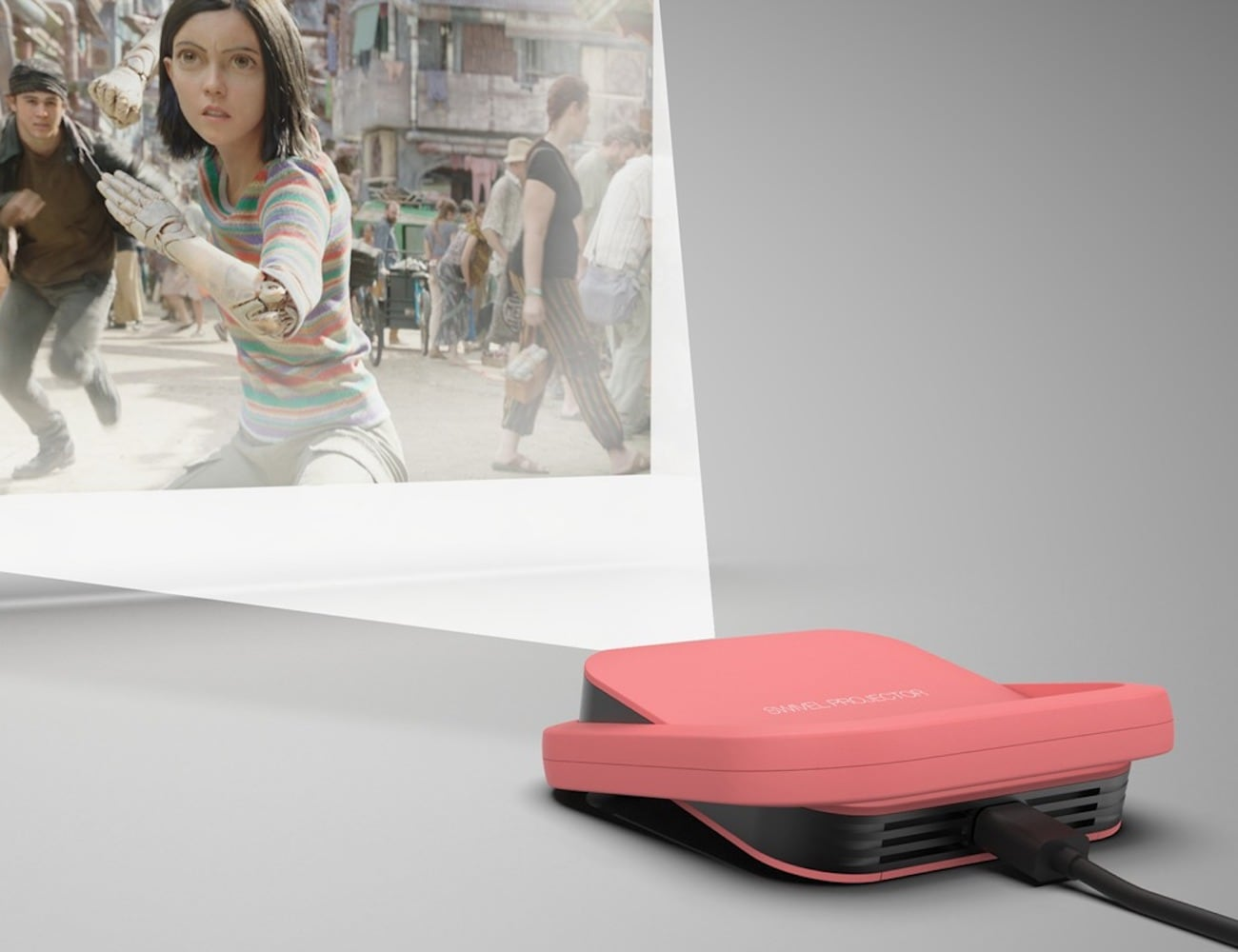 Swivel Truly Pocket-Sized Projector lets you take movies on the go