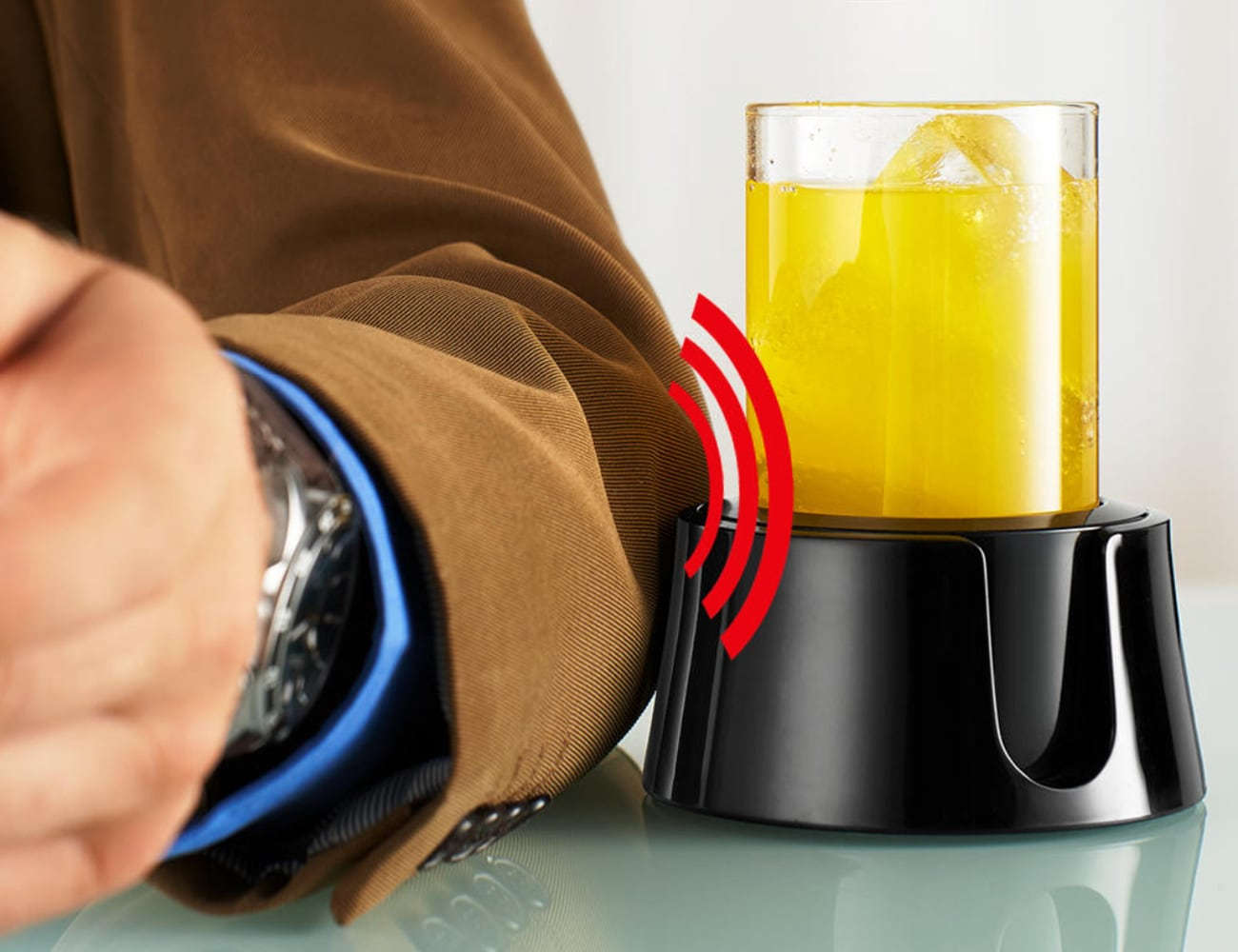 TableCoaster Anti-Spill Drink Holder prevents your drink from falling over