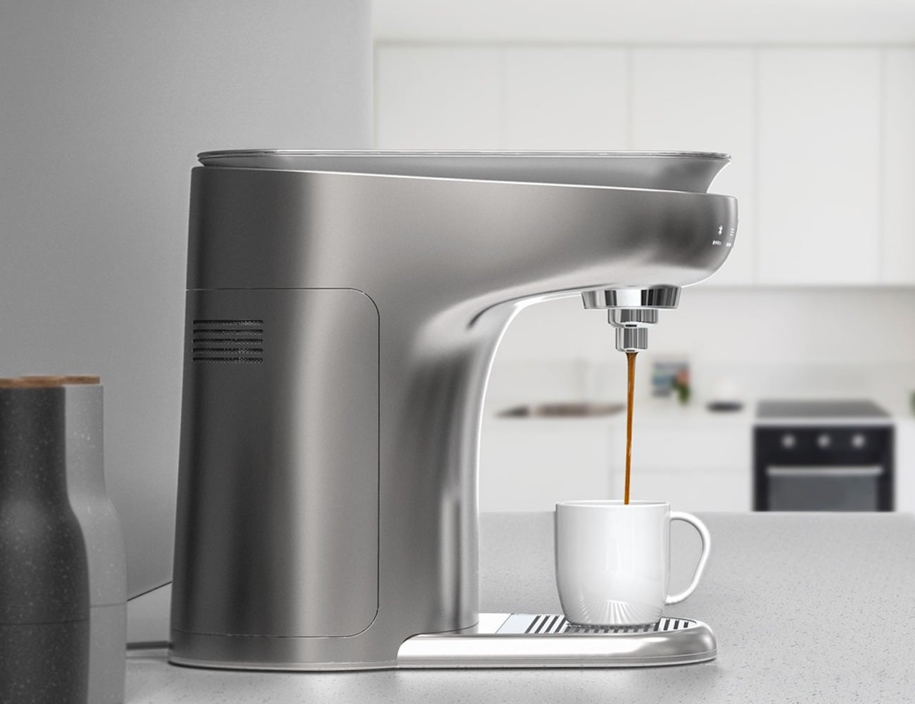 Tap and Drop Smartphone Connected Coffee Machine