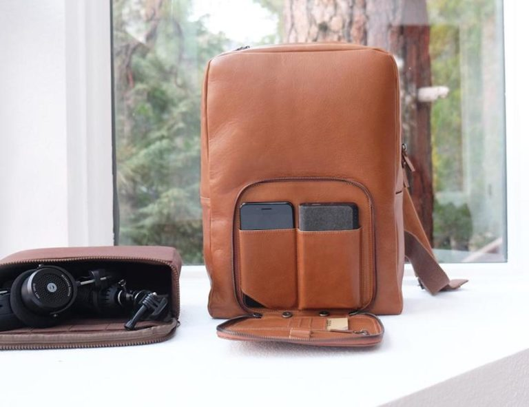 This+Is+Ground+Venture+2+Leather+Tech+Backpack+combines+adventure+and+tech