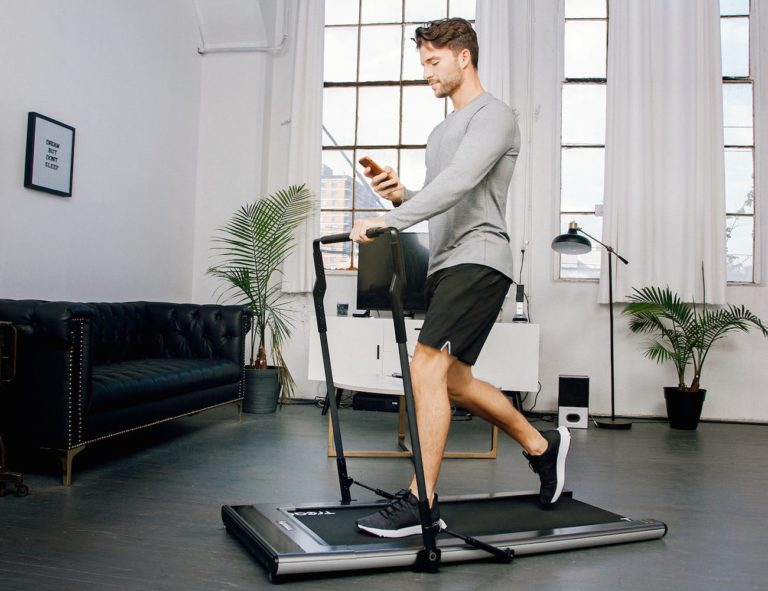 Treadly+Ultra-Thin+Compact+Treadmill+is+only+3.5+inches+thick