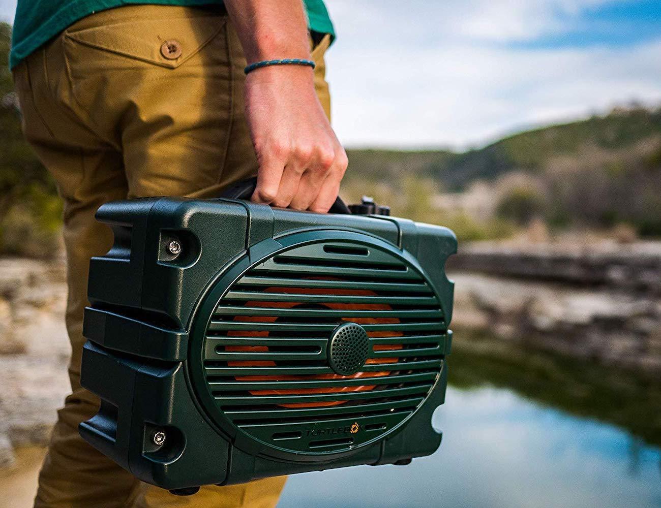 Turtlebox Loud Waterproof Outdoor Speaker delivers up to 120dB