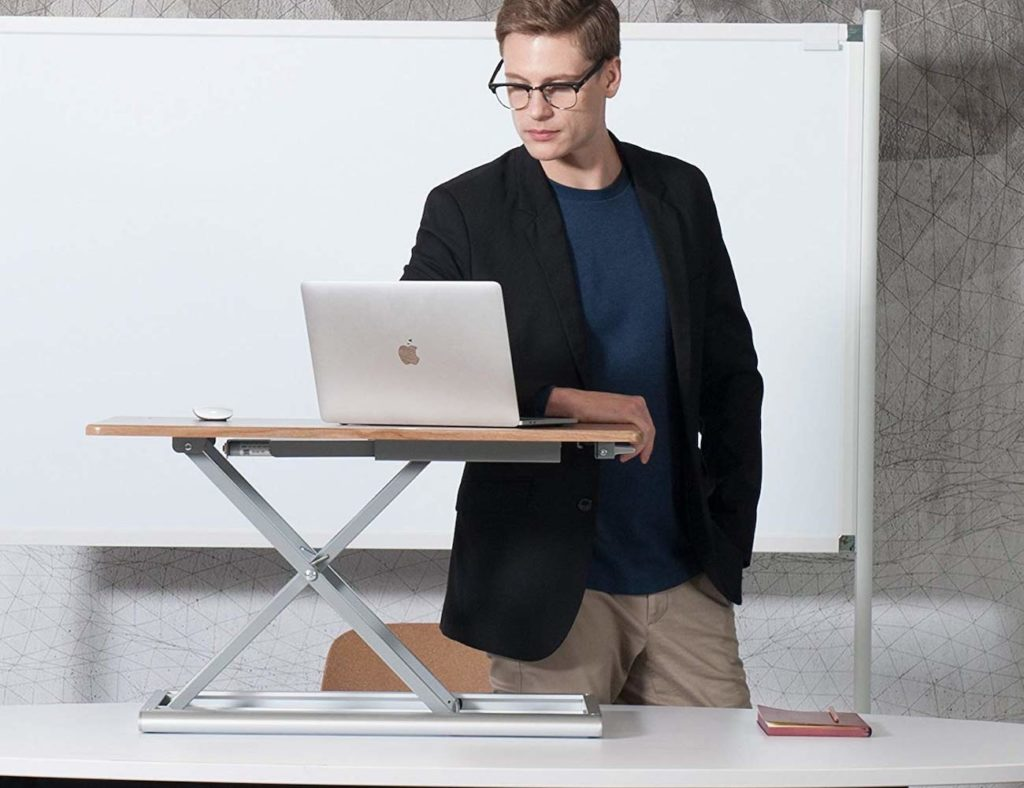 UPERGO+Standing+Desk+Converter+lets+you+quickly+change+from+sitting+to+standing